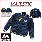 ショッピングスタジャン MAJESTIC マジェスティック ニューヨーク ヤンキース ピンストライプ サテン スタジャン
