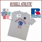 Russell Athletic 50/50 NUBLEND PANTHERS B.C プリント 半袖 Tシャツ ラッセル アスレティック