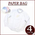 PAPER BAG ペーパーバッグ 長袖 無地 オックスフォード ボタンダウンシャツ
