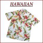 ハイビスカス 花柄 半袖 レーヨン100% アロハシャツ メンズ