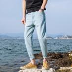 チノパン メンズ スウェット 無地 ボトムス ロングパンツ 9分丈 パンツ ゆったり カジュアル チノパン M-4XL 大きいサイズ 夏春新作