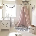 モスキートネット 蚊帳 天蓋 お姫様ベッド ベビーバル かや フック付き オシャレ かわいい 8カラー