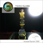 ショッピングパイレックス TaigaGlass (タイガグラス) ガラス製お香立て- Flat -【POLKA DOT】 taiga-033