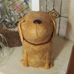 ガーデンオブジェ「うちのわんこ ゴールデンレトリバー お座り」 犬の置物