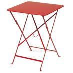テーブル 机 2人掛け 折り畳み ファニチャー ガーデン 「Fermob フェルモブ ビストロテーブル 57×57」