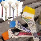 山羊毛 50mm ダスター ペンキ 猫 イラスト Ringo 塗装 雑貨 猫グッズ デザイン おしゃれ ハケ はけ ネコ柄 ねこ プレゼント 「ねこ刷毛 DIY × CAT 」