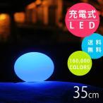 [送料無料] フロアライト 屋外OK 停電 非常用 「スマートアンドグリーン (Smart & Green) イリス 充電式LEDガーデンライト フラットボール リモコン付属」