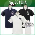 即納! GOTCHA GOLF(ガッチャゴルフ) 吸水速乾 ストレッチ 鹿の子 ボタニカル ポロシャツ(62GG1901)
