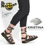 Dr. Martens ドクターマーチン KRISTINA サンダル ギリーサンダル 編み上げ レースアップ レザー ブラック