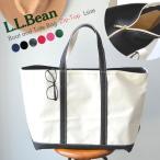 llbean ジップ付 トートバッグ キャンバス バッグ L ラージ Boat and Tote Bag Zip-Top ファスナー ジップ 通勤 通学 旅行 エルエルビーン トート