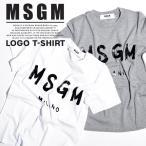 MSGM レディース Tシャツ ロゴプリント ロゴ エム エス ジー エム MSGM MILANO イタリア ミラノ シンプル トップス 半袖 ブランド