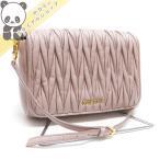 ショッピングMIUMIU 【中古】 ミュウミュウ ショルダーバッグ セカンドバッグ マテラッセ ピンク系 レザー 5BD068