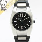 【中古】ブルガリ メンズ腕時計 エルゴン カーボン文字盤 SS/ラバー 自動巻き EG40BSVD