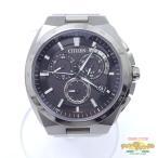 中古 シチズン アテッサ クロノグラフ  電波 E610-T018505 メンズ腕時計[ne]