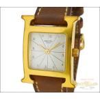 エルメス レディース腕時計 Hウォッチ ラムサス GP×レザー(ブラウン) クオーツ ホワイト文字盤