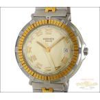 エルメス HERMES メンズ腕時計 キャプテンニモ SS×GP クオーツ アイボリー文字盤