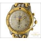 タグホイヤー TAG HEUER メンズ腕時計 プロフェッショナル セルシリーズ クロノグラフ SS×GP クオーツ アイボリー文字盤