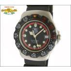 TAG HEER TAG HEER タグホイヤー ボーイズ腕時計 プロフェッショナル200M フォーミュラ1 SS×ラバー クオーツ ブラック文字盤