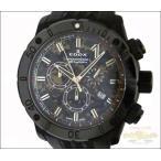 EDOX エドックス メンズ腕時計 クロノグラフ クロノオフショア SS×ラバー(ブラック) クオーツ 迷彩柄文字盤