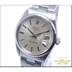 ロレックス オイスターパーペチュアル デイト Ref 1500 SS メンズ腕時計 自動巻き シルバー文字盤 1番 新品仕上げ・OH済み