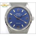 ロレックス ROLEX エアキング メンズ腕時計 SS 青369文字盤 S番 14000