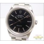 ロレックス エアキング 14000 オートマチック SS U番 ブラック文字盤 メンズ腕時計