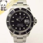 【中古】ROLEX サブマリーナ デイト 16610 Y番 メンズ腕時計 SS AT/自動巻き ブラック文字盤【美品】ロレックス 【メンズ】【Watch】