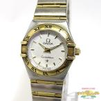 オメガ OMEGA コンステレーション ミニ レディース腕時計 SS×YG クォーツ 文字盤ホワイト 1262.30【中古】[ka]
