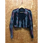 BCBG MAXAZRIA マックスアズリア スタンドアウトカラー ショートジャケット ブラック×レッド  表記サイズ:XS [ka][GJ]【ir】