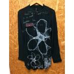 【中古】デシグアル レディース ノーカラーロングシャツ ブラック 表記サイズ:L[jggI]