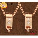 グッチ 214164-J8540/5702 ペアネックレス/2個セット/BOXラッピング完備 ダイヤモンド ペンダント GUCCI ピンクゴールド