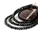 Bracelet - ブラックスピネル ブレスレット ネックレス パワーストーン シルバー ステンレス 送料無料 ブラック 石 年度末 sale