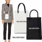 バレンシアガ BALENCIAGA ショッピング フォンホルダーバッグ 5938260AI2N ブラック ホワイト
