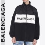 バレンシアガ デニム&ナイロン ロゴ ジャケット BALENCIAGA ブラック/BLACK  529213TBQ031000