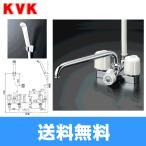 ショッピングKVK KVK浴室用水栓デッキ形2ハンドルシャワー(300mmパイプ付)KF12ER3[一般地仕様]【送料無料】
