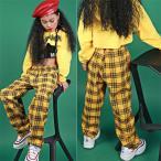 【再入荷】子供 HIPHOP ダンス 衣装 キッズ チェック柄 上下セットアップ パーカー ダンクトップ サルエルパンツ 長ズボン ジャズ ダンス 衣装 キッズ 体操 jazz