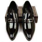 ショッピングエナメル SALE価格 メンズシューズ ビジネスシューズ 本革 レースアップ 紳士靴 外羽根 エナメル ロングノーズ D530-5
