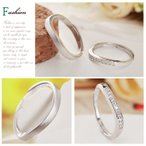 クーポンで50%OFFペアリング 指輪 ウエーブ 波型 つや消し サイズフリー シルバー925 プラチナ仕上げ czダイヤ C型リング セール 人気