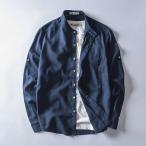 リネンシャツ メンズ 無地 綿 リネン 麻 白シャツ ネイビー カジュアル 新作 バンドカラー ノーカラー