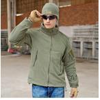 ジャケット メンズ フリースジャケット パーカー ハイネック ミリタリー系 ブルゾン 裏起毛 防寒