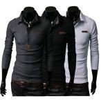 新作 ポロシャツ メンズ 長袖 無地 カジュアル シンプル ビジネス対応 3色 大きいサイズ