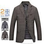 テーラードジャケット メンズ ギンガム チェック 2Bジャケット ダブルボタン 紳士服 秋冬 新作 ビジネス