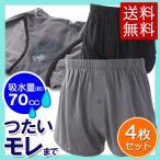 快適ニットトランクス 2色4枚組  失禁パンツ 尿漏れパンツ 安心パンツ 快適パンツ トランクス メンズ 男性用 吸水量約70cc 綿100% 尿もれ 送料無料