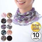 UV対策 ネックホルダー ネックカバー UV対策グッズ お洒落 シルク 絹100% シルクネックホルダー(メール便可)