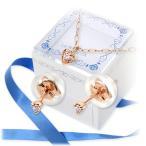 ショッピングピンクゴールド ピンクゴールド ピアス ダイヤモンド 彼女 誕生日プレゼント 記念日 ギフトラッピング あすつく ラ・プレッツァ  送料無料 クリスマスプレゼント