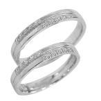 結婚指輪 プラチナ クロス ダイヤモンド マリッジリング ペアリング Pt900 十字架 2本セット