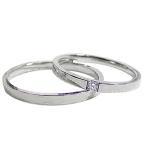 結婚指輪 一粒 ダイヤモンド マリッジリング プラチナ ストレート ペアリング Pt900