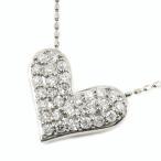 ショッピングネックレス ネックレス レディース ハートネックレス パヴェ ダイヤモンドネックレス 18金 0.30ct ホワイトゴールドK18 ホワイトデー プレゼント