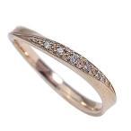 ダイヤモンドリング ピンクゴールドK18 K18PG ピンキーリング