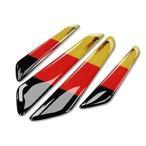 カーボン風 ドアプロテクター スリムプロテクター カーボン国旗デザイン4枚セット